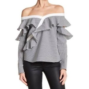 LAUNDRY by Shelli Segal Off the Shoulder Blouse